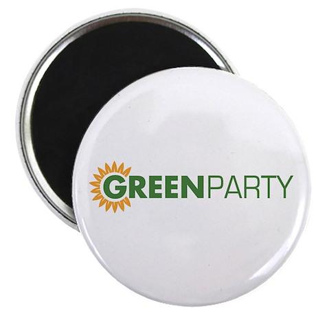Green Party Logo (sunflower) Magnet