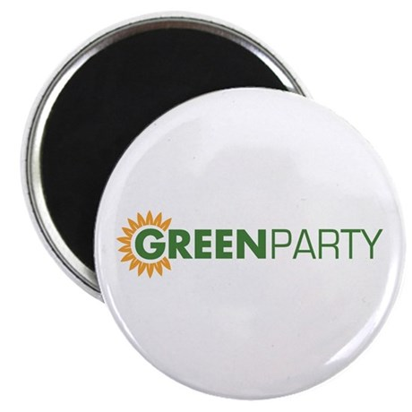 """Green Party Logo (sunflower) 2.25"""" Magnet (10 pac"""