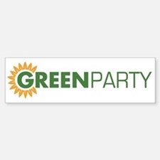 Green Party Logo (sunflower) Bumper Bumper Bumper Sticker