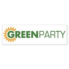 Green Party Logo (sunflower) Bumper Bumper Sticker