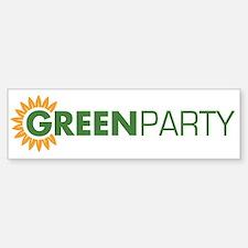 Green Party Logo (sunflower) Bumper Car Car Sticker