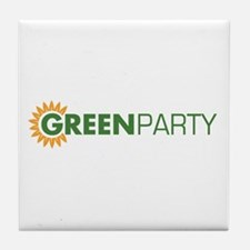 Green Party Logo (sunflower)  Tile Coaster