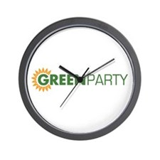 Green Party Logo (sunflower)  Wall Clock