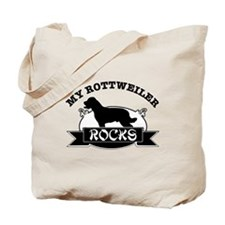 My Rottweiler rocks Tote Bag