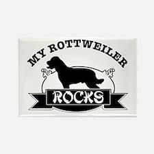 My Rottweiler rocks Rectangle Magnet
