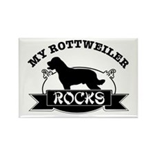 My Rottweiler rocks Rectangle Magnet (10 pack)