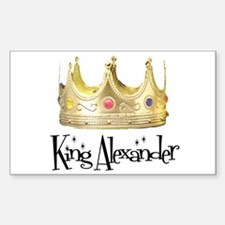 King Alexander Rectangle Decal