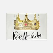 King Alexander Rectangle Magnet