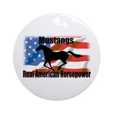 Real American Horsepower Ornament (Round)
