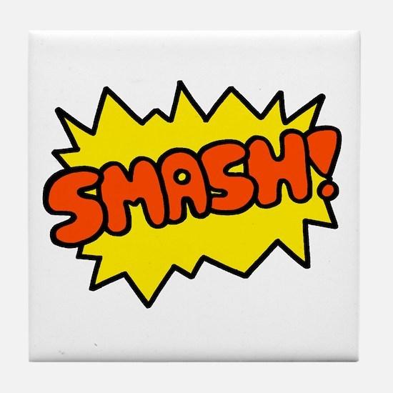 'Smash!' Tile Coaster