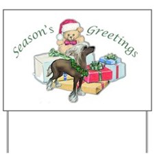 Chinese Crested Christmas Yard Sign