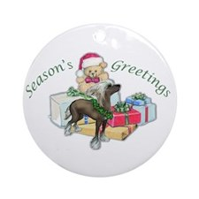 Chinese Crested Christmas Ornament (Round)