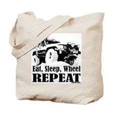 Eat, Sleep, Wheel - REPEAT Tote Bag