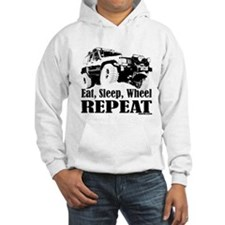 Eat, Sleep, Wheel - REPEAT Hoodie Sweatshirt