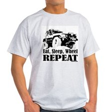 Eat, Sleep, Wheel - REPEAT Ash Grey T-Shirt