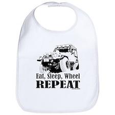 Eat, Sleep, Wheel - REPEAT Bib
