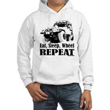 Eat, Sleep, Wheel - REPEAT Hoodie Sweatshirt