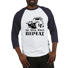 Eat, Sleep, Wheel - REPEAT Baseball Jersey