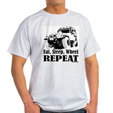 Eat, Sleep, Wheel - REPEAT Ash Grey T-Shirt