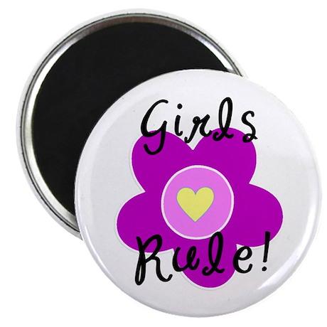 "Girls Rule 2.25"" Magnet (10 pack)"