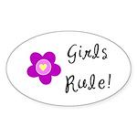 Girls Rule Sticker (Oval 50 pk)