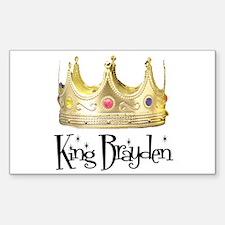 King Brayden Rectangle Decal