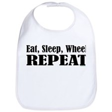 Eat, Sleep, Wheel - REPEAT Bib