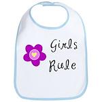 Girls Rule Bib