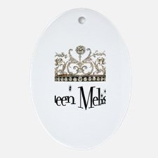 Queen Melissa Oval Ornament