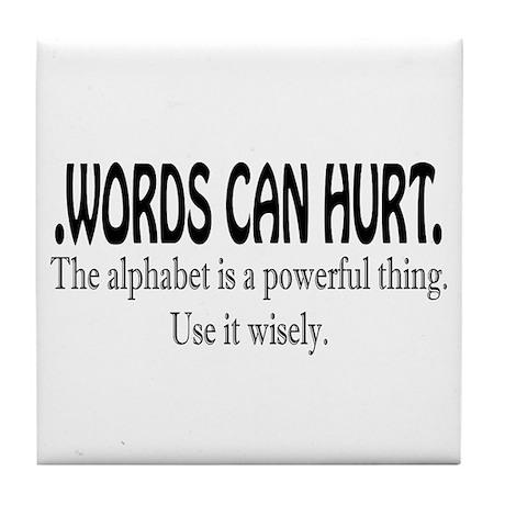 Words Tile Coaster