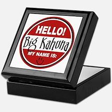Hello My Name Is Big Kahuna Keepsake Box