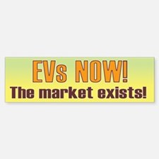 EVs NOW! Bumper Bumper Bumper Sticker