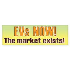EVs NOW! Bumper Bumper Sticker