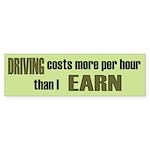 Low Wage, High Gas Prices Bumper Sticker (10 pk)