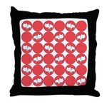Kitty Cat Polka Dots Throw Pillow