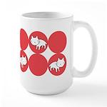Kitty Cat Polka Dots Large Mug (15 oz)