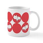Kitty Cat Polka Dots Ceramic Coffee Mug