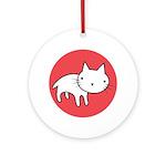 Kitty Cat Polka Dots Ornament (Round)