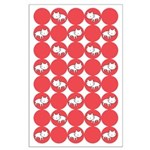 Kitty Cat Polka Dots Large Poster