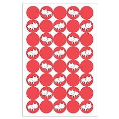 Kitty Cat Polka Dots Posters