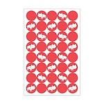 Kitty Cat Polka Dots Mini Poster Print