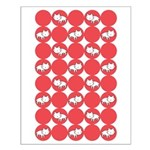 Kitty Cat Polka Dots Small Poster