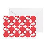 Kitty Cat Polka Dots Greeting Card