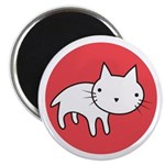 """Kitty Cat Polka Dots 2.25"""" Magnet (10 pack)"""