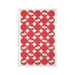 Kitty Cat Polka Dots Rectangle Magnet (100 pack)