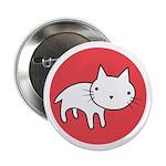 """Kitty Cat Polka Dots 2.25"""" Button"""