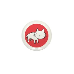 Kitty Cat Polka Dots Mini Button