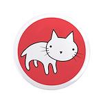 """Kitty Cat Polka Dots 3.5"""" Button"""