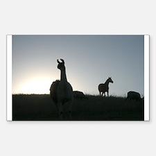 George & Beau Silhouette Decal