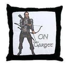 Elf:On Target Throw Pillow